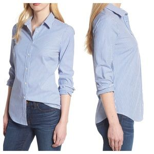 J.Crew | Classic Stripe Stretch Cotton Shirt A3
